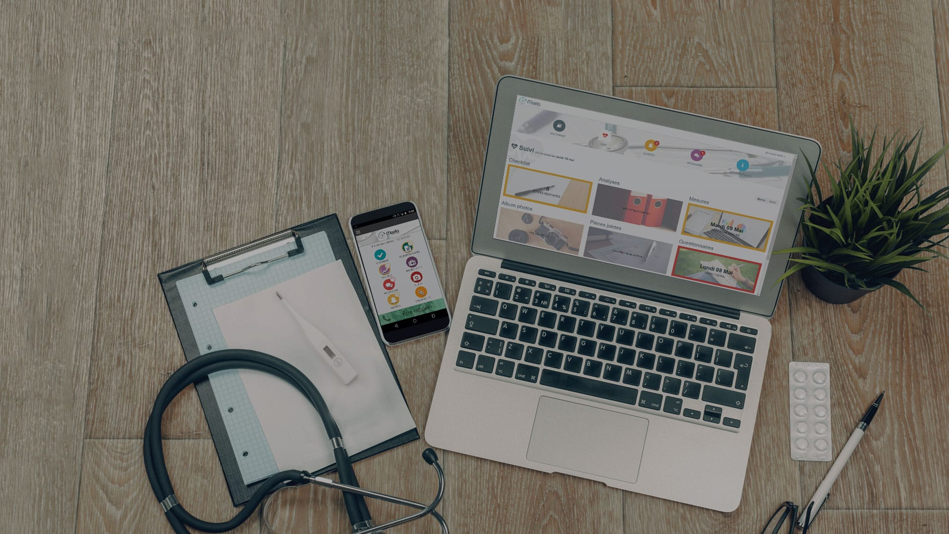La solution de suivi patient connectée