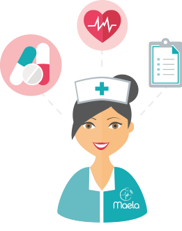 Maela, Une infirmière surveille les données